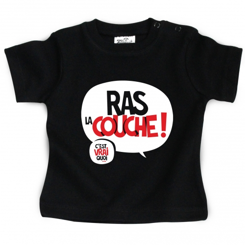 Tshirt bébé Ras la couche