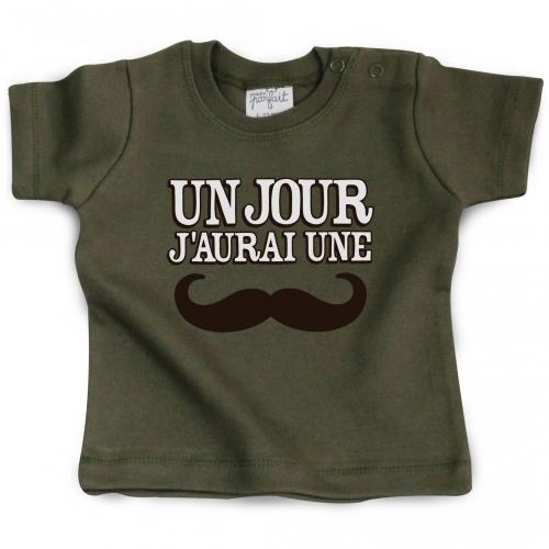 Tshirt bébé Un jour j'aurai une moustache