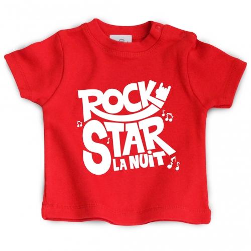 Tshirt bébé Rock Star la nuit