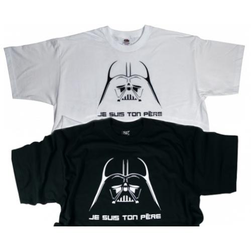 Lot de 2 tshirts Je suis ton père - Noir & Blanc